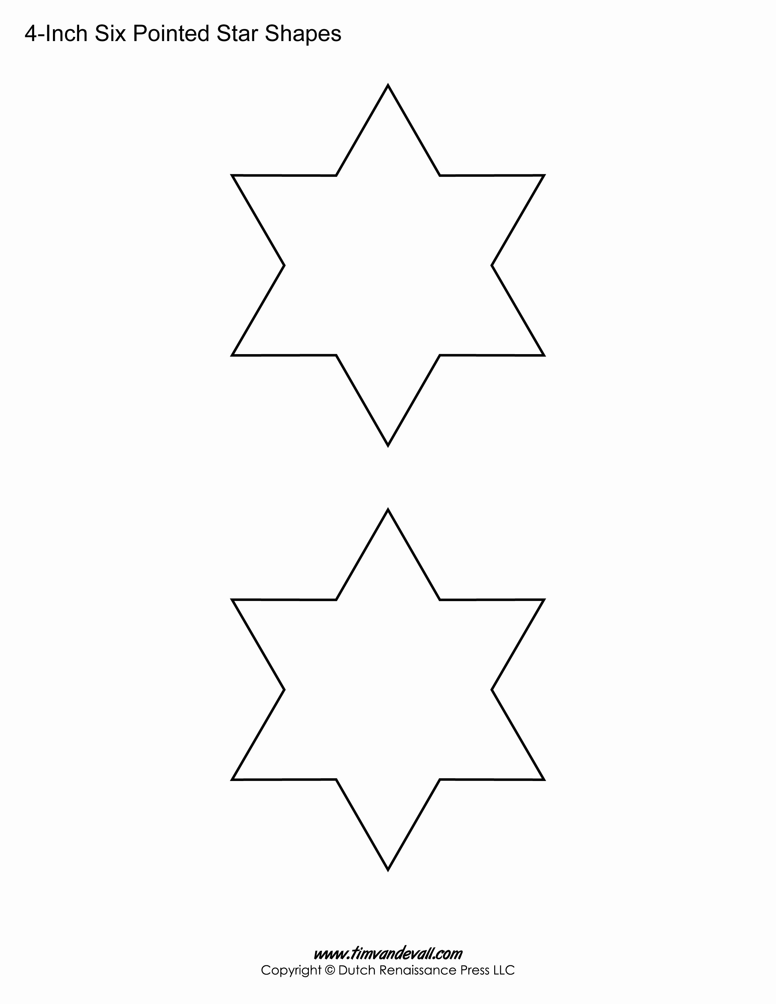 3 Inch Star Template Fresh Printable Six Pointed Star Templates