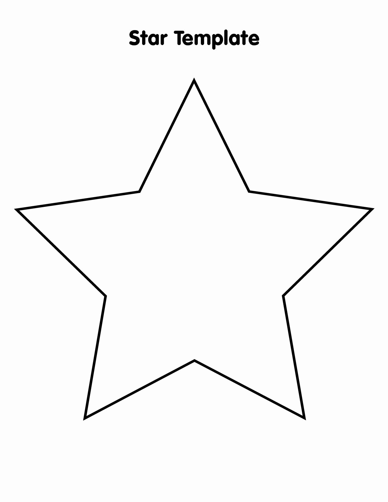 3 Inch Star Template Fresh Star Template Printable Cliparts