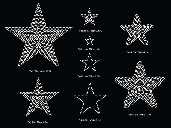 3 Inch Star Template Fresh Stars Star Rhinestone Template V Tail 3 Inch Rhinestone