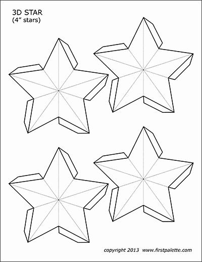 3 Inch Star Template Inspirational 3d Star Templates