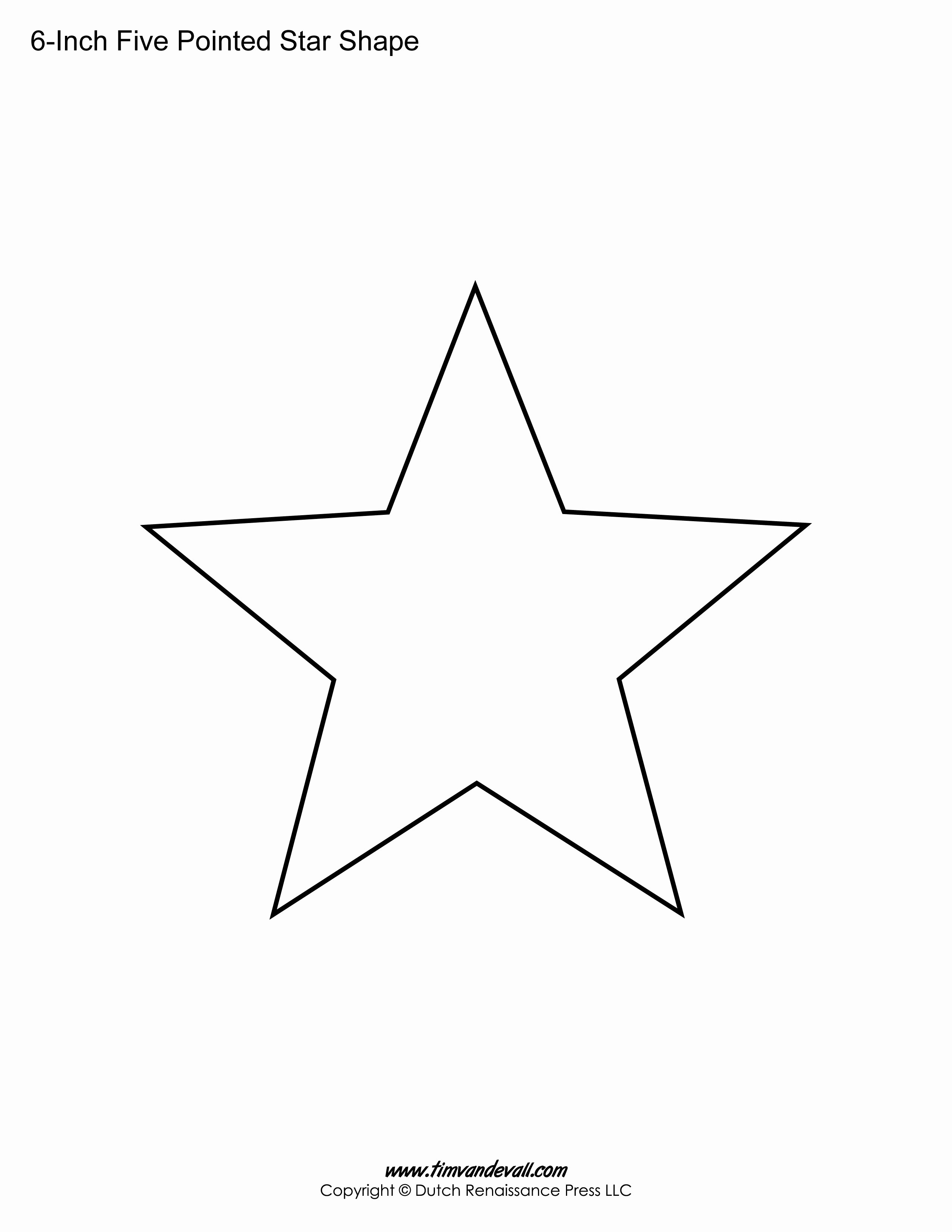 3 Inch Star Template Lovely Printable Five Pointed Star Templates Blank Shape Pdfs