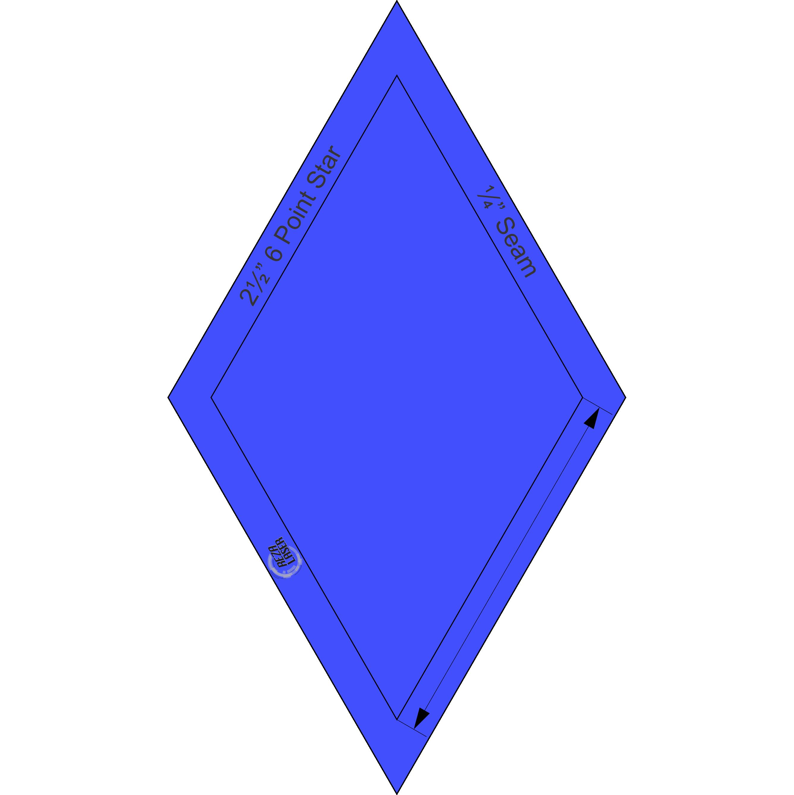 3 Inch Star Template Luxury Diamonds 60° – Page 3 – Rezalaser