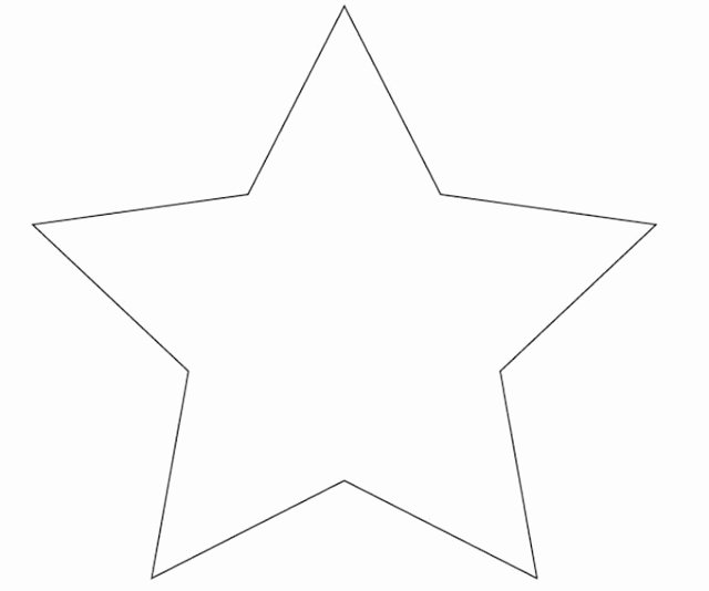 3 Inch Star Template Unique 6 Best Of 3 Inch Printable Star Pattern 10 Inch