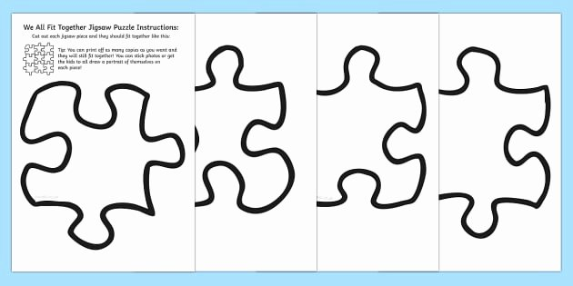 30 Piece Puzzle Template Elegant Ks1 Jigsaw Piece Puzzle We All Fit to Her Primary