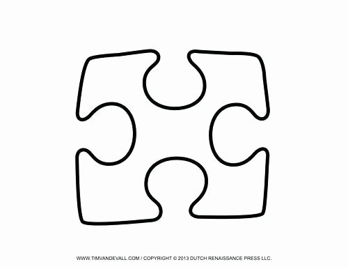30 Piece Puzzle Template Lovely Puzzle Piece Template