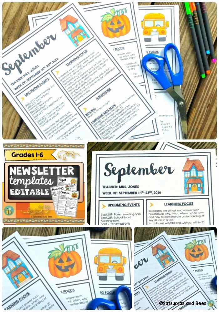3rd Grade Newsletter Template Beautiful Best Images About Third Grade Things On Pinterest