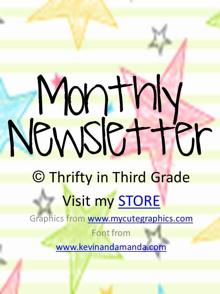 3rd Grade Newsletter Template Best Of Class Monthly Newsletter Editable