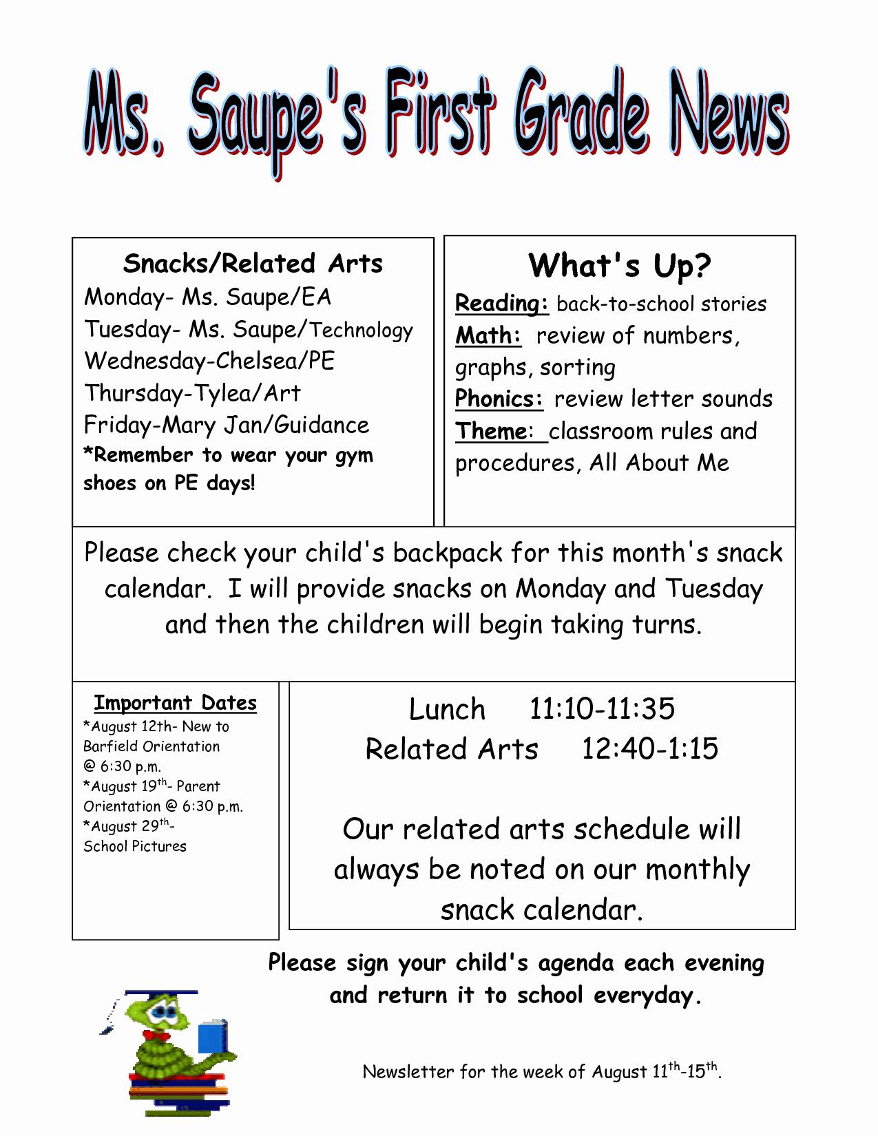 3rd Grade Newsletter Template Best Of Download Newsletter Templates for Teachers