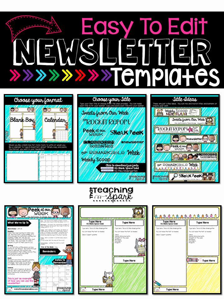 3rd Grade Newsletter Template Fresh Tpt Back to School Sale Monday Tuesday that Teaching Spark