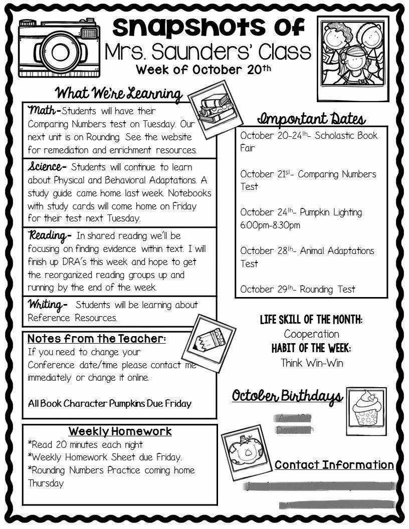 3rd Grade Newsletter Template Inspirational the Teaching Oasis top 5 Blog Posts & Winter Freebies