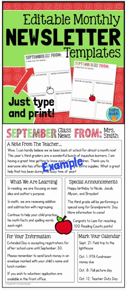3rd Grade Newsletter Template Luxury Work Weekly Newsletter Template Bing Images