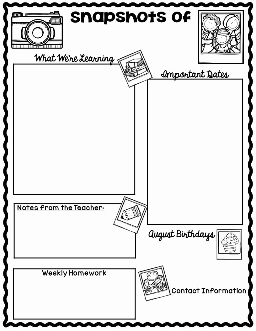 3rd Grade Newsletter Template New the Teaching Oasis Monthly Calendars and Newsletter