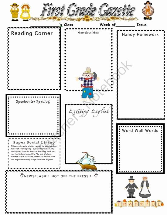 3rd Grade Newsletter Template Unique 34 Best Images About School On Pinterest