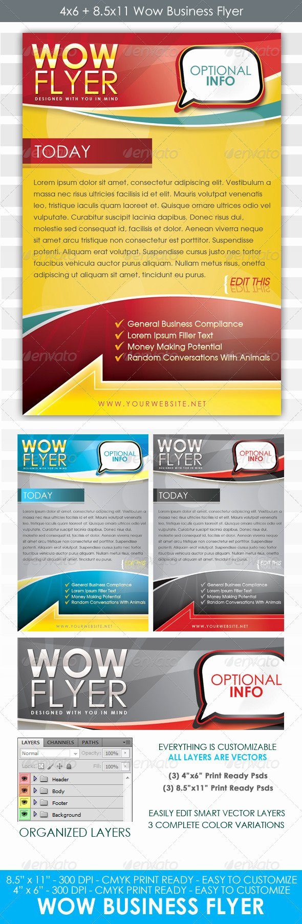 4x6 Flyer Template Elegant Wow Flyer 4x6 and 8 5x11 Business Template
