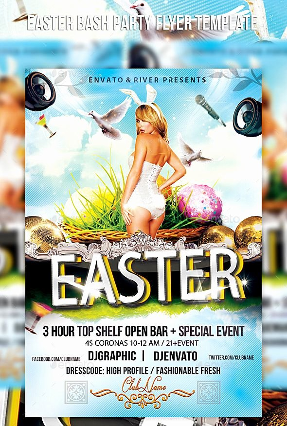 4x6 Flyer Template Inspirational Easter Bash Party Flyer Template Cs6 4x6 Bash Bunny