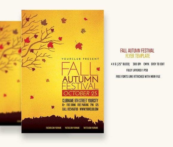 4x6 Flyer Template Lovely Fall Template Psd Designtube Creative Design Content
