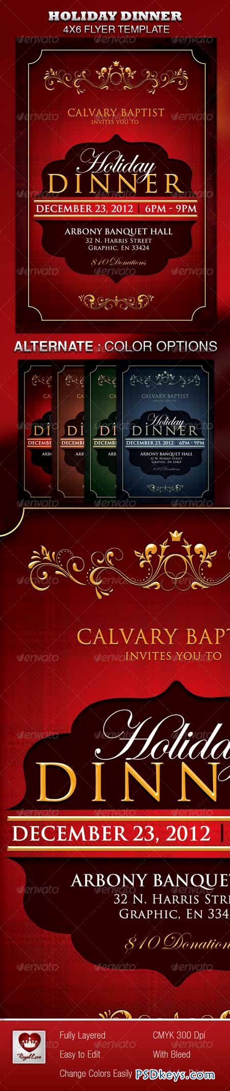 4x6 Flyer Template Luxury Holiday Dinner Church Flyer Free Download