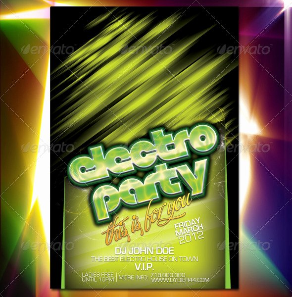 4x6 Flyer Template Unique Electro Party Flyer Template 4x6 by Dy R44