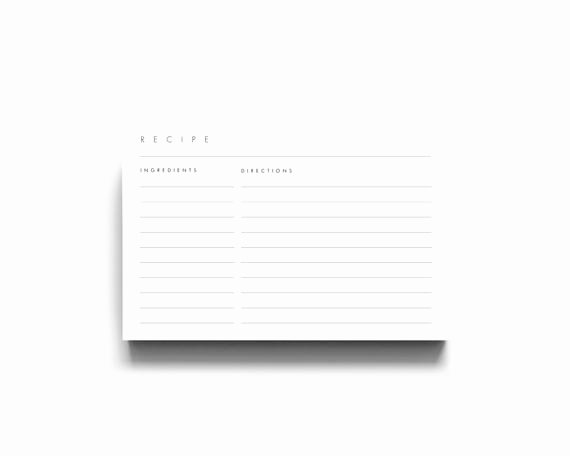 4x6 Photo Template Awesome 4x6 Recipe Template 3x5 Recipe Cards Recipe Card Template