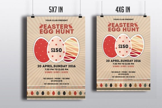 4x6 Photo Template Awesome Items Similar to Easter Egg Hunt Party Flyer Template