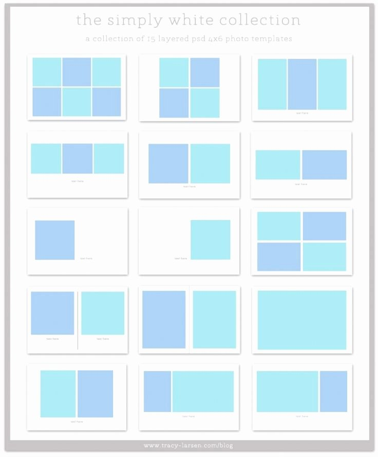 4x6 Photo Template Best Of the Simply White Collection 4x6 Photo Collage Templates