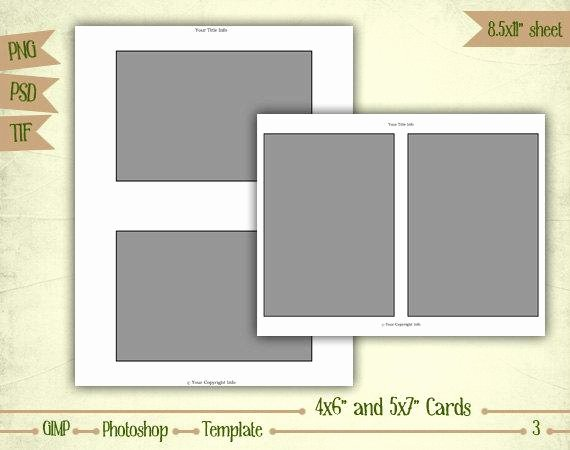 4x6 Photo Template Elegant Cards 4x6 and 5x7 Digital Collage Sheet Layered by