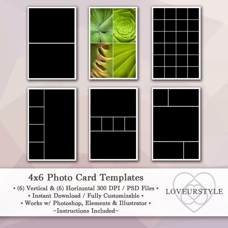 4x6 Photo Template Fresh 4x6 Template Pack 12 Card Templates
