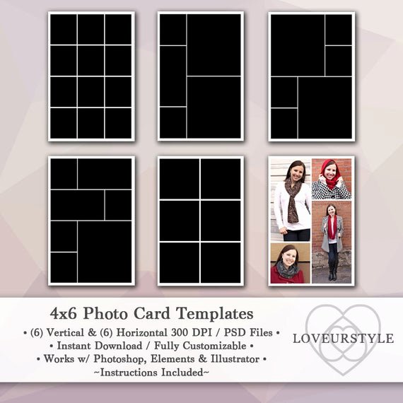4x6 Photo Template Lovely 4x6 Template Pack 12 Card Templates