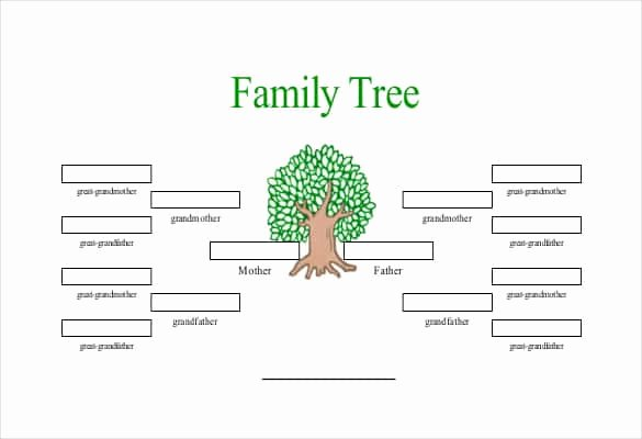5 Generation Family Tree Template Excel Awesome Printable Family Tree with Siblings Printable Pages