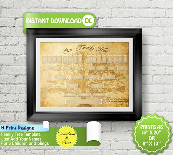 5 Generation Family Tree Template Excel Lovely 13 5 Generation Family Tree Templates Free Word Excel