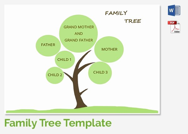 5 Generation Family Tree Template Excel Lovely Family Tree Template 37 Free Printable Word Excel Pdf
