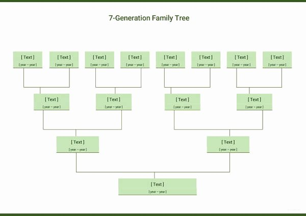 5 Generation Family Tree Template Excel Luxury Simple Family Tree Template 27 Free Word Excel Pdf