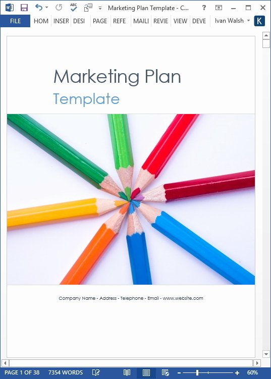 5 Year Maintenance Plan Template Unique Marketing Plan Template – 40 Page Ms Word Template and 10