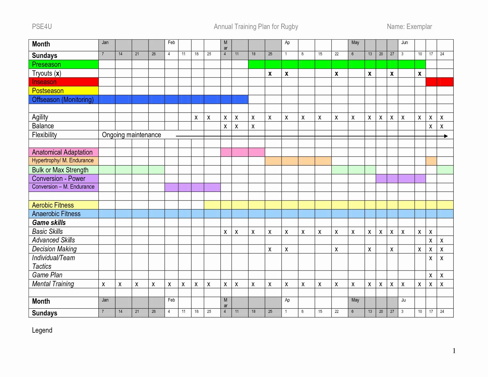 5 Year Maintenance Plan Template Unique Training Schedule Template Excel
