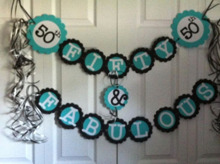 50th Birthday Banner Ideas Best Of 50th Birthday Decorations Party Banner Fifty & Fabulous
