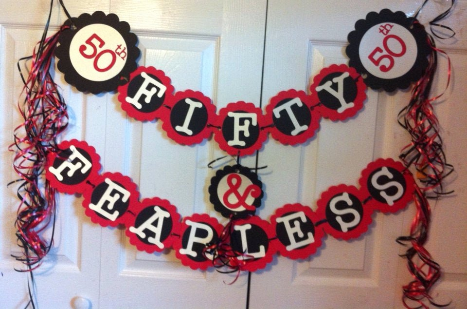 50th Birthday Banner Ideas Best Of 50th Birthday Decorations Party Banner Fifty & Fearless