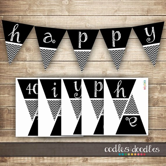 50th Birthday Banner Ideas Inspirational Chevron Birthday Banner 30th 40th 50th Printable