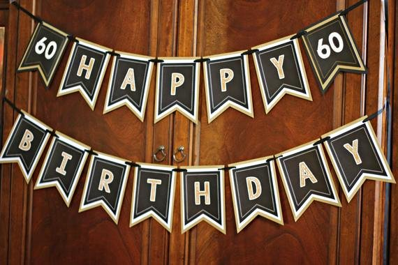 50th Birthday Banner Ideas Lovely 60th Birthday Party Banner Milestone Birthday Party