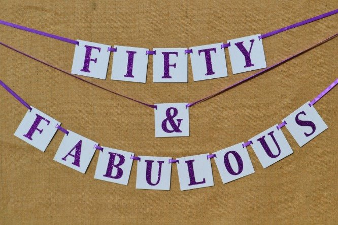50th Birthday Banner Ideas Lovely Birthday Banner Fifty and Fabulous 50th Birthday Sign