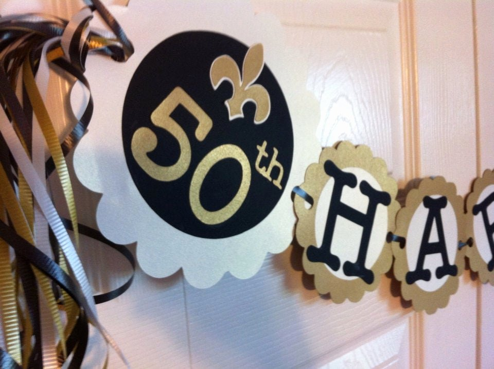 50th Birthday Banner Ideas New 50th Birthday Decorations Party Banner Fleur De Lis