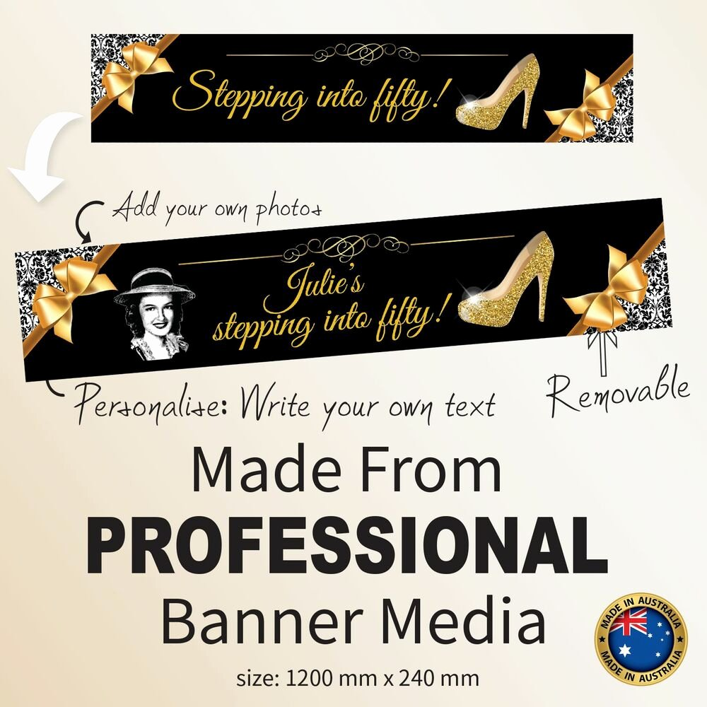 50th Birthday Banner Ideas New Stepping Fifty 50th Birthday Fabric Party Banner
