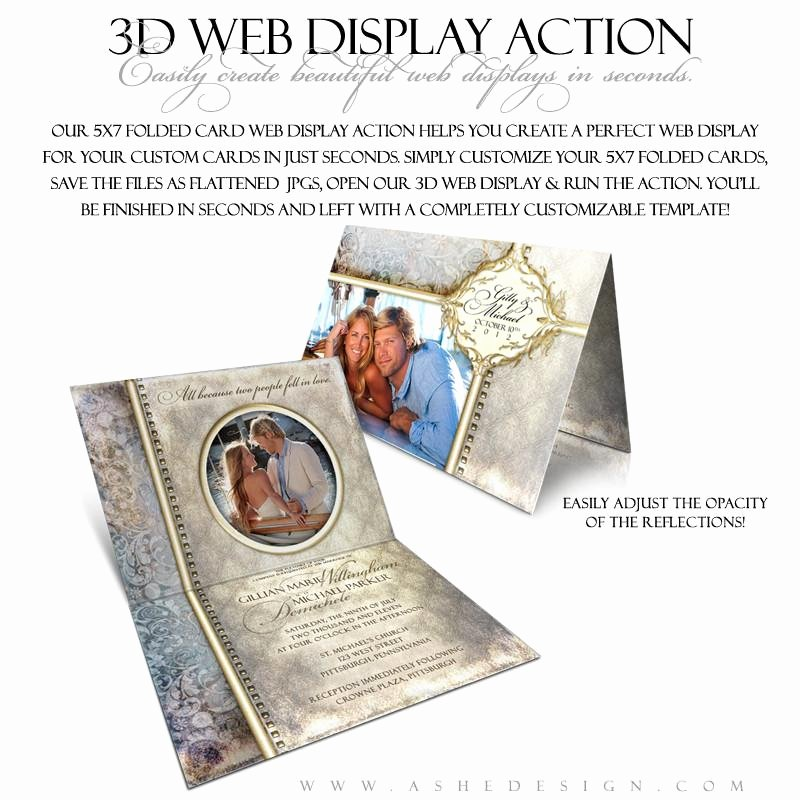 5x7 Folded Card Template for Word Beautiful ashe Design Shop Action