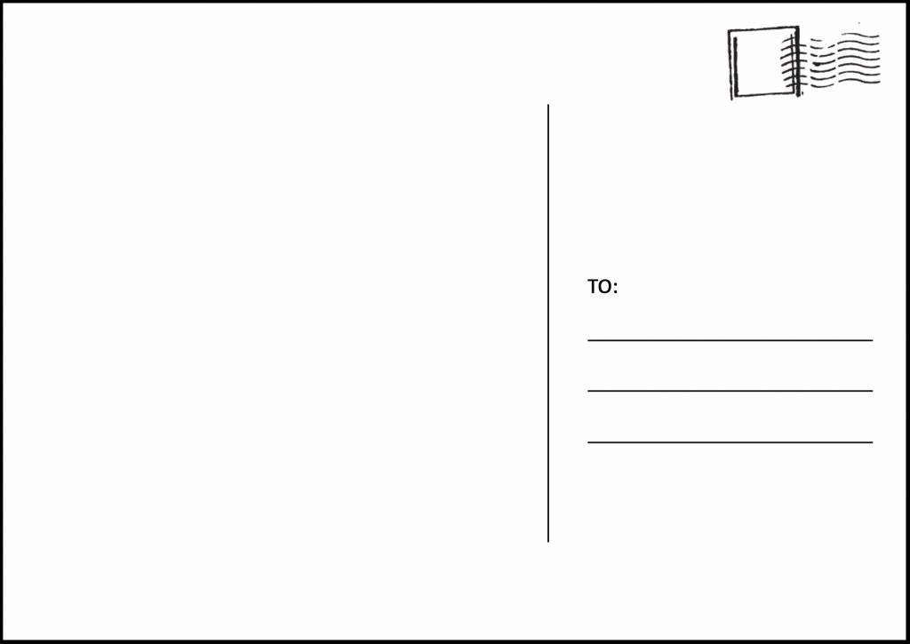 5x7 Folded Card Template for Word Elegant 5×7 Postcard Template