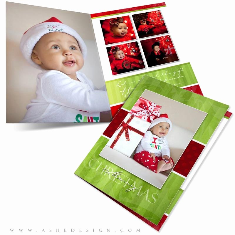 5x7 Folded Card Template for Word Fresh Christmas Card 5x7 Folded Merry & Bright – ashedesign
