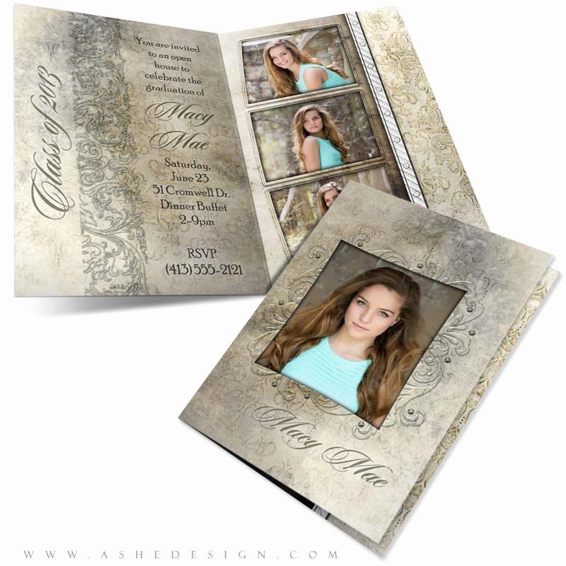 5x7 Folded Card Template for Word Fresh Macy Mae 5x7 Folded Senior Girl Graduation Invitation