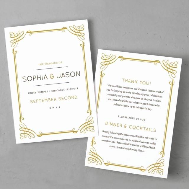 5x7 Folded Card Template for Word Inspirational Invitation Printable Wedding Program Template