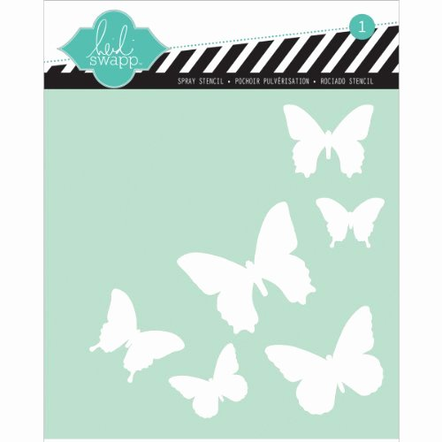6 Inch Heart Template Beautiful Heidi Swapp butterfly Stencil 6 by 6 Inch the Art