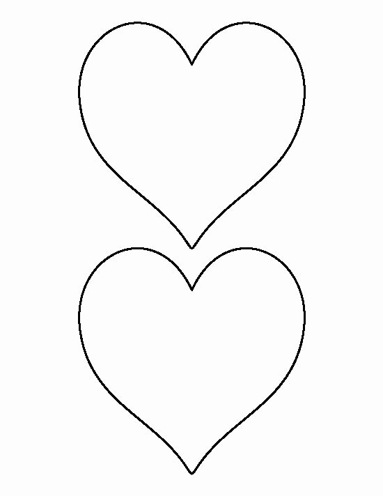 6 Inch Heart Template Best Of 5 Inch Heart Pattern Use the Printable Outline for Crafts