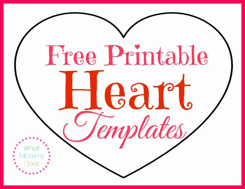 6 Inch Heart Template Inspirational Free Printable Heart Templates – Medium & Small