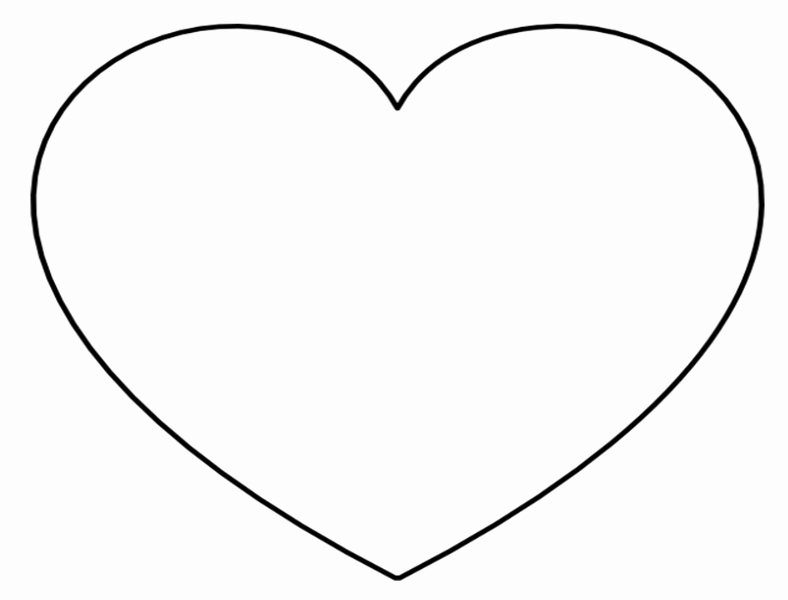 6 Inch Heart Template Luxury Super Sized Heart Outline – Extra Printable Template